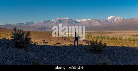 Argentina, Provincia de San Juan, departamento de Calingasta,Cordillera en Barreal Foto de stock