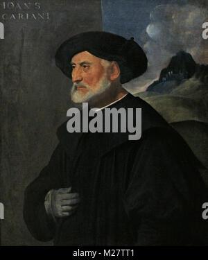 Il (Giovanni Cariani Busi o Giovanni Cariani) (ca.1485-1547). Pintor italiano. Retrato de un antiguo Patrician, ca.1530. Galería Nacional. Oslo. Noruega.