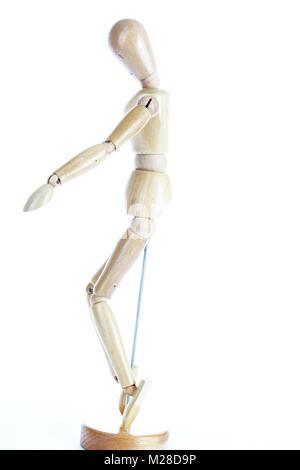 Maniqui de madera modelo de dibujo de la forma humana. Doll cuerpo ...