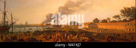 Francia, Charente Maritime, Rochefort, Museo marino, vista del puerto de Rochefort en 1762 por Joseph Vernet (pedir autorización antes de publicar)