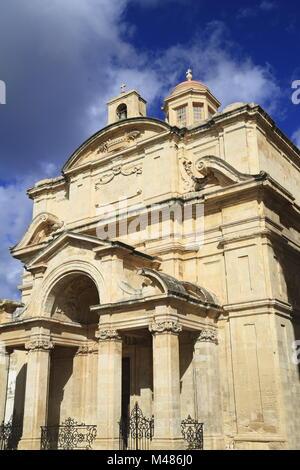La Iglesia de Santa Catalina, en la Valetta, Malta