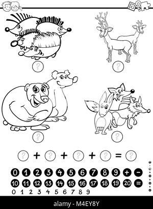 Hoja de actividades de matemáticas para colorear Foto & Imagen De ...