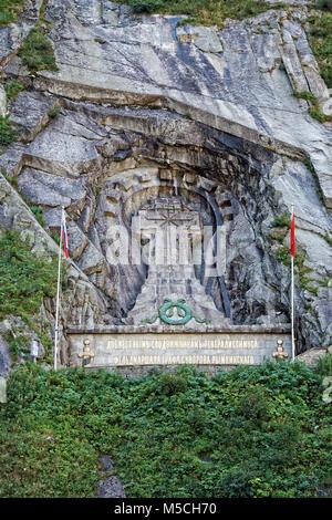 Memorial en Schöllenen Andermatt Gorge, a los soldados rusos comandado por el General Suworow quien en 1799 frenaron el avance de las tropas de Napoleón