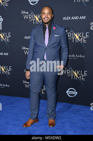 Hollywood, CA, EE.UU.. 26 Feb, 2018. 26 de febrero de 2018 - El Hollywood, California - Justin Simien. Disney's Foto de stock