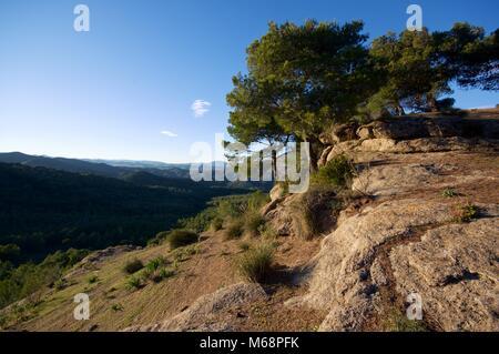 Paisaje de montaña cerca de Ardales, provincia de Málaga, España