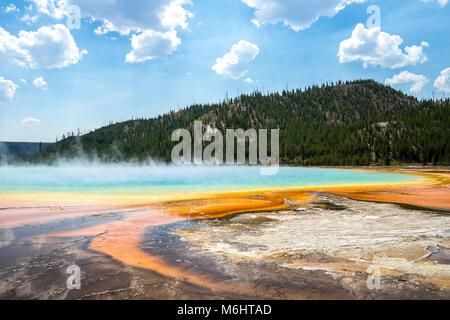Grand Prismatic Spring, el Parque Nacional de Yellowstone.