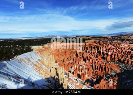 Bryce Canyon durante el invierno.