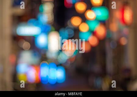 Las luces de la gran ciudad de fondo bokeh Foto de stock