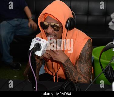 Miami Beach, FL, EEUU. 23 Mar, 2018. Nick Cannon durante el fin de semana música Miami Hits 97.3 Hotel en el Clevelander Hotel el 23 de marzo de 2018, en Miami Beach, Florida. Crédito: Mpi04/Media Punch/Alamy Live News