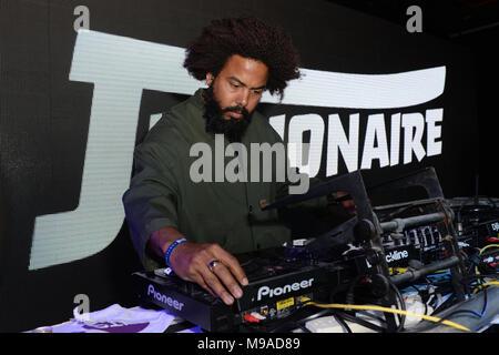 Miami Beach, FL, EEUU. 23 Mar, 2018. Jillionaire realiza durante el fin de semana música Miami Hits 97.3 Hotel en el Clevelander Hotel el 23 de marzo de 2018, en Miami Beach, Florida. Crédito: Mpi04/Media Punch/Alamy Live News