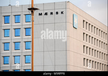 Sedes de A.P. Moller Maersk Group, conglomerado empresarial danesa en el transporte, la logística y el sector energético, uno de los mayores buques portacontenedores ope