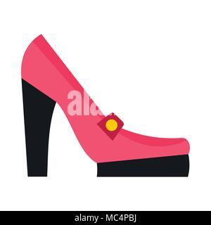 Zapatos de Tacón rosa icono, estilo plano Foto de stock