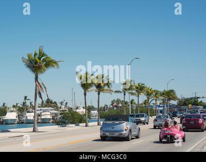 Tráfico en Key West, Florida.