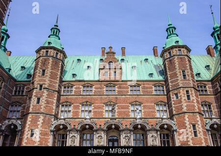 Castillo de Frederiksborg, Hillerod, Dinamarca. Actualmente es el Museo de la historia nacional