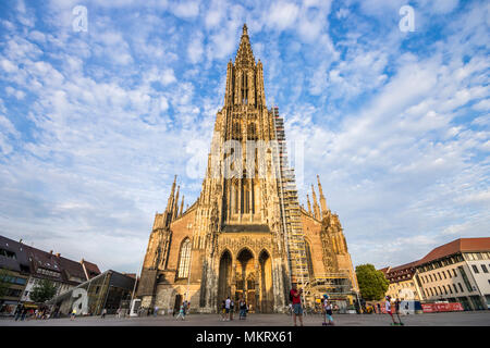 Ulm, Alemania. El Ulm Minster (ULMER MÜNSTER), un templo de la iglesia luterana y la más alta en el mundo