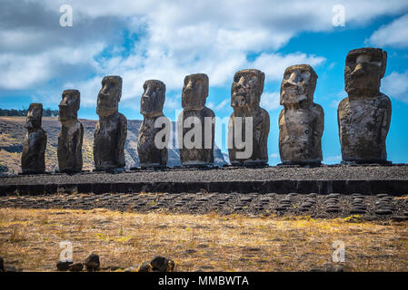 Estatuas moai de Rapa Nui Isla de Pascua