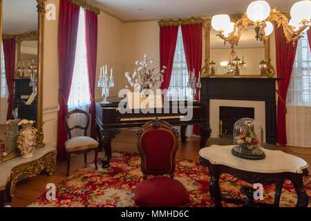 Montgomery, Alabama - La primera casa blanca de la Confederación. Jefferson Davis, presidente de los Estados Confederados, vivió aquí hasta que el ejército confederado