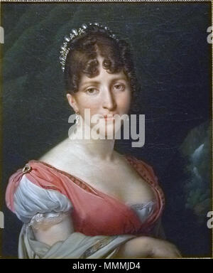 """. Inglés: """"Retrato de Hortense de Beauharnais, Reina de Holanda' Retrato de Hortense de Beauharnais, Reina de Holanda. circa 1805-1809. Anne-Louis Girodet-Trioson - Hortense de Beauharnais, 001"""