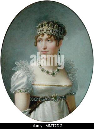 Francés: Retrato de la reine Hortense de Hollande Hortense de Beauharnais, Reina de Holanda. circa 1810. Regnault - Hortense de Beauharnais, Malmaison