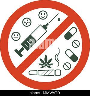 Las drogas no permitidas