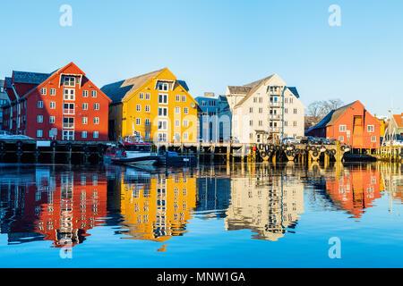 Hermosa ciudad de Tromso, en el norte de Noruega.