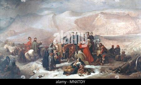 Inglés: la capitulación de Kars, Guerra de Crimea, el 28 de noviembre de 1855 Русский: Сдача Карса, Крымская война, 28 ноября 1855 . Inglés: En junio de 1855, durante la Guerra de Crimea (1854-1856), Kars, una ciudad en el noroeste de Turquía, fue sitiada por un ejército ruso de 25.000 hombres. Desmoralizados por su derrota a manos de los rusos, los turcos abandonaron la defensa de Kars a Brevet Coronel (más tarde General Sir) William FENWICK Williams, quien fue el comisionado británico con el ejército otomano en Anatolia. A través de su brillante organización, la guarnición fue capaz de repeler los tres principales ataques rusos, pero eventuall