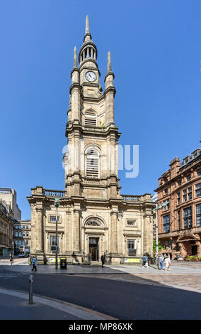 St George's Tron Iglesia de Escocia iglesia Buchanan Street en el centro de la ciudad de Glasgow, Escocia, Reino Unido