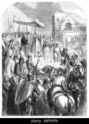 El papa Urbano II predicación durante el Consejo de Clermont en 1095 para la Primera Cruzada (1095-1099) para recuperar la Tierra Santa. Fue una expedición militar para ayudar al Imperio Bizantino, que recientemente había perdido la mayor parte de Anatolia a los turcos de Seljuq. La expedición militar resultante principalmente de nobles francos, conocida como la cruzada de los príncipes no sólo re-capturado Anatolia pero iban a conquistar la Tierra Santa (el Levante), que había caído a la expansión islámica tan temprano como en el siglo VII, y culminó en julio de 1099 en la reconquista de Jerusalén y el establecimiento del reino de Jerusalén.