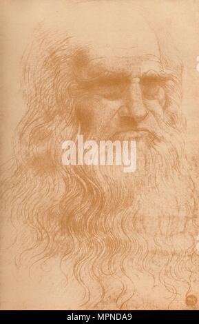 """Retrato de un hombre en la Tiza roja', C1512, (1932). Artista: Leonardo da Vinci."