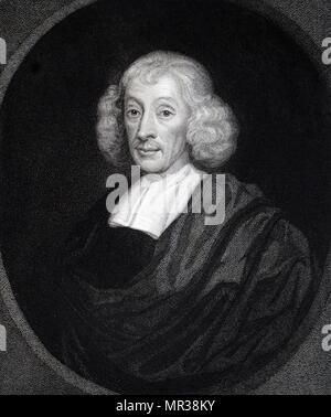 Retrato de John Ray (1627-1705), un naturalista Inglés. Fecha del siglo xviii