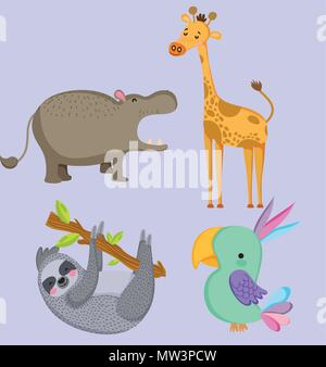 Cute animales silvestres
