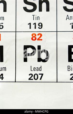 Smbolo del elemento qumico plomo foto imagen de stock 59917189 el elemento de plomo pb como se aprecia en la tabla peridica urtaz Choice Image
