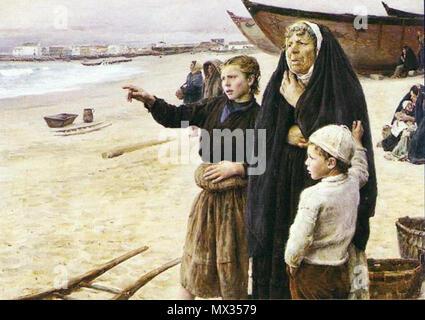 . Inglés: A Volta dos barcos (1891) . 29 de enero de 2013, 22:55:22. José Júlio Souza Pinto 22 vinda dos barcos Foto de stock