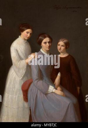 103 Celina Mickiewiczowa córkami Marią Heleną z i Foto de stock