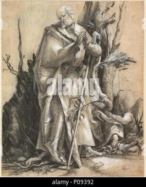 274 Alberto Durero - Saint barbudo en un bosque, c. 1516 - Proyecto de arte de Google