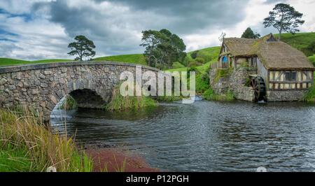 El Viejo Molino, Hobbiton, ubicación de El Señor de los anillos y el Hobbit, la trilogía cinematográfica Hinuera, Matamata, Nueva Zelanda