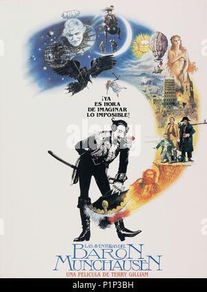 El título original de la película: Las aventuras del barón Munchausen. Título en inglés: Las aventuras del barón Munchausen. El director de cine: Terry Gilliam. Año: 1988. Crédito: Columbia Pictures / Álbum