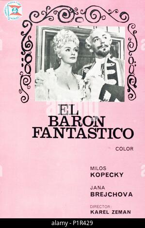 El título de la película original: BARON PRASIL. Título en inglés: El Barón de Munchausen, el fabuloso. El director de cine: Karel Zeman. Año: 1961. Crédito: CESKOSLOVENSKI FILM / Álbum