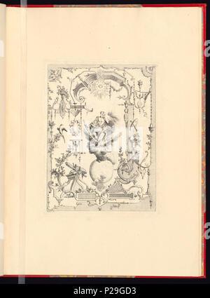 268 Imprimir, Nouveau livre de principes d'ornements particulièrement pour trouver ONU nombre infini de tormes qui dependiente, d'après les dessins de Gillot. Peintre du Roy gravé par Huquier; pl. 11 (CH) 18272717