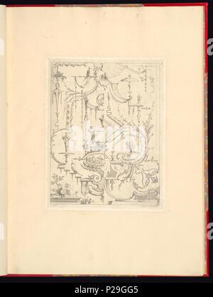 268 Imprimir, Nouveau livre de principes d'ornements particulièrement pour trouver ONU nombre infini de tormes qui dependiente, d'après les dessins de Gillot. Peintre du Roy gravé par Huquier; pl. 5 (CH) 18272757