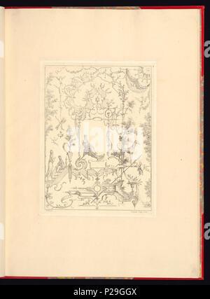 268 Imprimir, Nouveau livre de principes d'ornements particulièrement pour trouver ONU nombre infini de tormes qui dependiente, d'après les dessins de Gillot. Peintre du Roy gravé par Huquier; pl. 7 (CH) 18272773