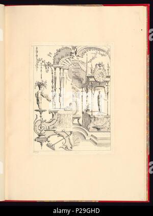 268 Imprimir, Nouveau livre de principes d'ornements particulièrement pour trouver ONU nombre infini de tormes qui dependiente, d'après les dessins de Gillot. Peintre du Roy gravé par Huquier; pl. 9 (CH) 18272787