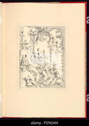 268 Imprimir, Nouveau livre de principes d'ornements particulièrement pour trouver ONU nombre infini de tormes qui dependiente, d'après les dessins de Gillot. Peintre du Roy gravé par Huquier; pl. 8 (CH) 18272779
