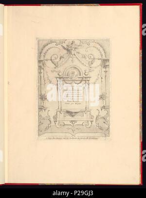 268 Imprimir, Nouveau livre de principes d'ornements particulièrement pour trouver ONU nombre infini de tormes qui dependiente, d'après les dessins de Gillot. Peintre du Roy gravé par Huquier; página de título (CH) 18272705
