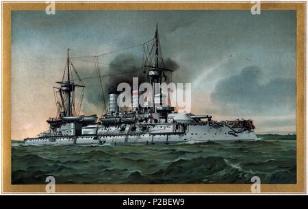 279 S.M. Linienschiff Kurfürst Friedrich Wilhelm - restauración Foto de stock