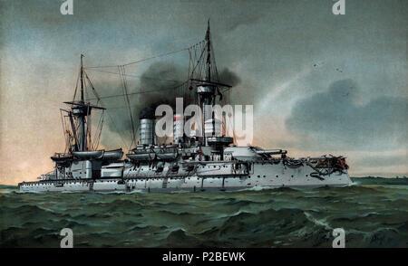 279 S.M. Linienschiff Kurfürst Friedrich Wilhelm - Restauración, frontera eliminado Foto de stock