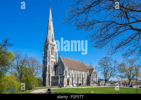 St. Albans Iglesia en la ciudad de Copenhague, Dinamarca.