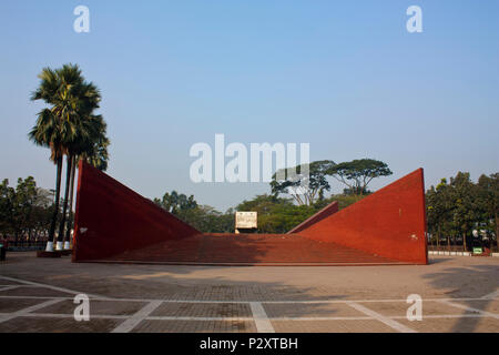 Los intelectuales martirizados Memorial en Mirpur. Dhaka, Bangladesh.