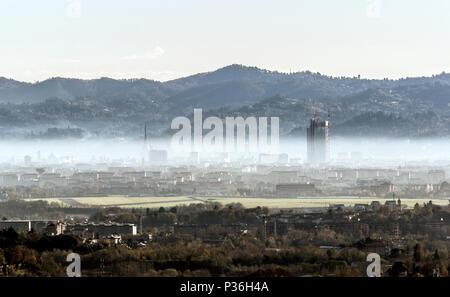 Vista de Turín en el Piamonte