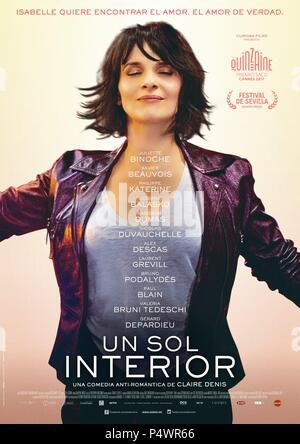El título de la película original: ONU Beau Soleil interieur. Título en inglés: dejar que los rayos del sol. Director de la película: Claire Denis. Año: 2017. Crédito: Centre national du Cinéma / Curiosa Films / fd / producción / Álbum